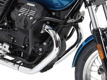 Barra de protección de motor color Negro para Moto Guzzi V 7 III Stone/Special/Anniversario/Racer (2017-)