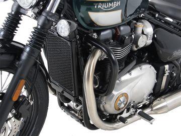 Barra de protección de motor color Negro para Triumph Bonneville Bobber (2017-)