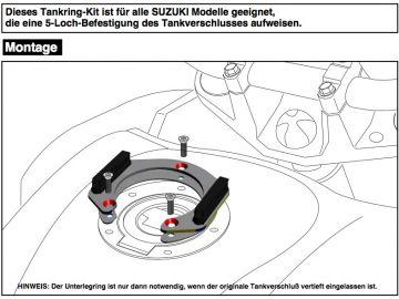 Anillo de tanque sistema Lock-it para Suzuki V-Strom 1000 ABS (2014-)
