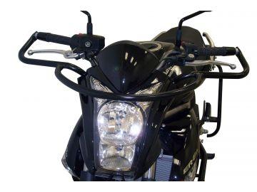 Defensas de Manillar en Negro Especiales para Autoescuela para Kawasaki ER-6n desde 2009