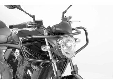 Defensas de Manillar en Negro Especiales para Autoescuela para Suzuki GSF 650 N Bandit desde 2010