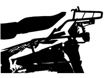 Soporte lateral de maletas Suzuzi GSX-R 1100 W año 1993-1994 - Negro
