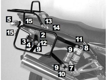 Portaequipajes Completo Lock it Yamaha XJR 1300 desde año 2007 - Negro