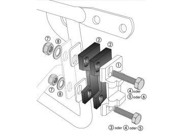 Adaptador Alu con la placapara Top Case Alu-Standard y Alu-Exclusiv