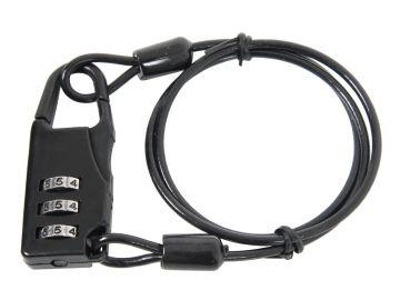 Cerradura de combinación con cable (50 cm) Gris Oscuro