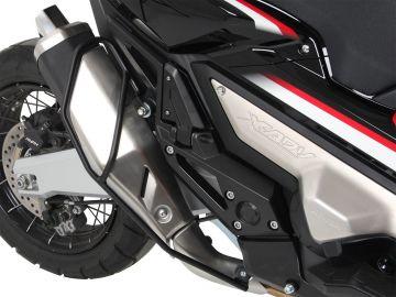 Estribo de protección tubo de escape color Negro para Honda X-ADV desde 2017 de Hepcobecker.