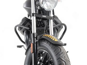 Protector de Motor Negro para  Moto Guzzi V9 Bobber desde 2016 de Hepco&Becker