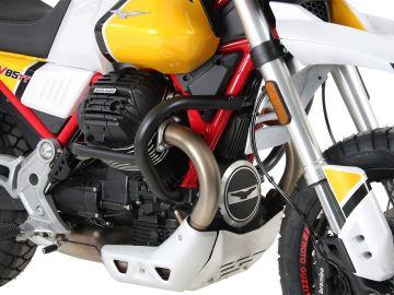 Barra de protección del motor negra para Moto Guzzi V85 TT (2019-)