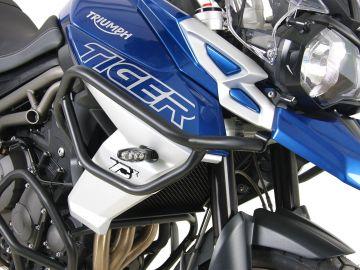 Protector de depósito negro para Triumph Tiger 800 XR / XRX / XRT / XC / XCX / XCA (2018-)