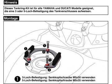Anillo de tanque para soporte de bolsa para Ducati Monster 1200 R desde 2016