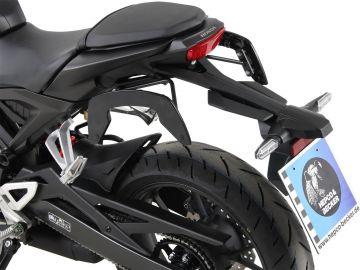 Sistema lateral negro para Honda CB 125 R ab 2018