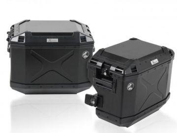 Sistema de maletas CUTOUT Xplorer NEGRA para Suzuki V-Strom 650 ABS desde 2012
