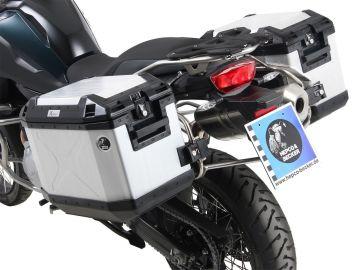 Soporte lateral Cutout de acero inoxidable. incl. cajas laterales Xplorer Cutout para BMW F 850 GS (2018)