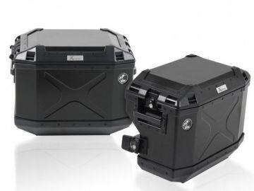 Sistema de maletas CUTOUT Xplorer NEGRAS para Tiumph Tiger Tiger 800 XR/X desde 2015