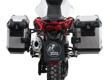 Portamaletas lateral permanente negro para Guzzi V85 TT (2019-)