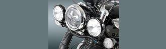 Faro doble para moto